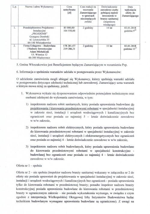 nadzór inwestorski oczyszczalnia ścieków Grotniki